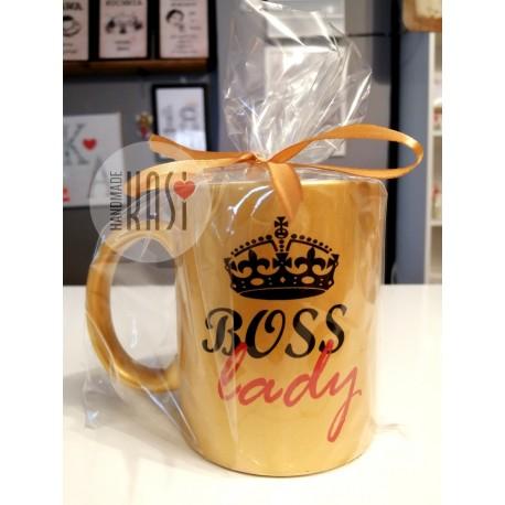 """Kubek złoty z nadrukiem """"Boss Lady"""