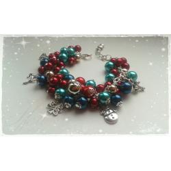 Bransoletka handmade - Świąteczna 1