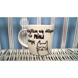 """Kubek ręcznie malowany """"Kot miau alergię"""""""