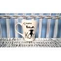 """Kubek ręcznie malowany """"Książka, Kawa, Kot"""""""