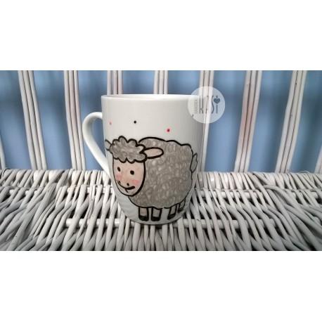 Kubek ręcznie malowany - Owieczka