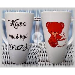 "Kubek latte z nadrukiem ""Kawa musi być duża"" - 1szt"