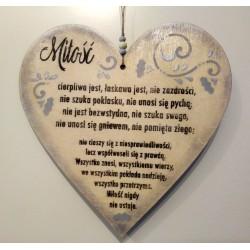 """Serce wiszące """"Miłość"""""""